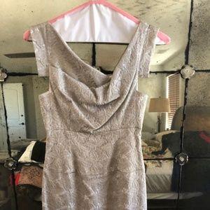Black Halo Gray Lace Jackie O Dress